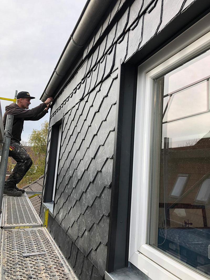 Fassadenbekleidung mit Naturschiefer - Dachdeckerei Edier aus Selent bei Kiel